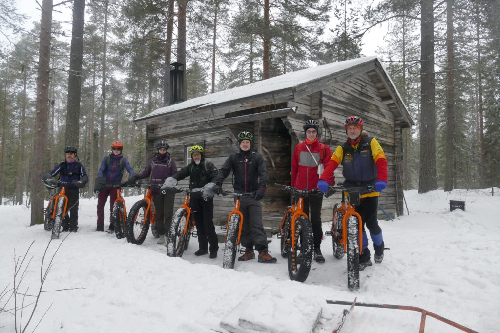 Fat biking is good way to move in the forest.
